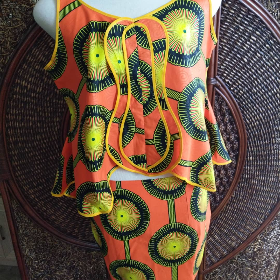 Sun Burst - African Skirt and Top Outfit