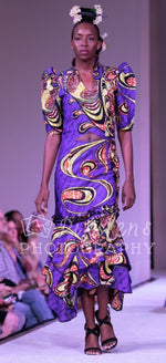 Purple Swirl Layered - African Dress