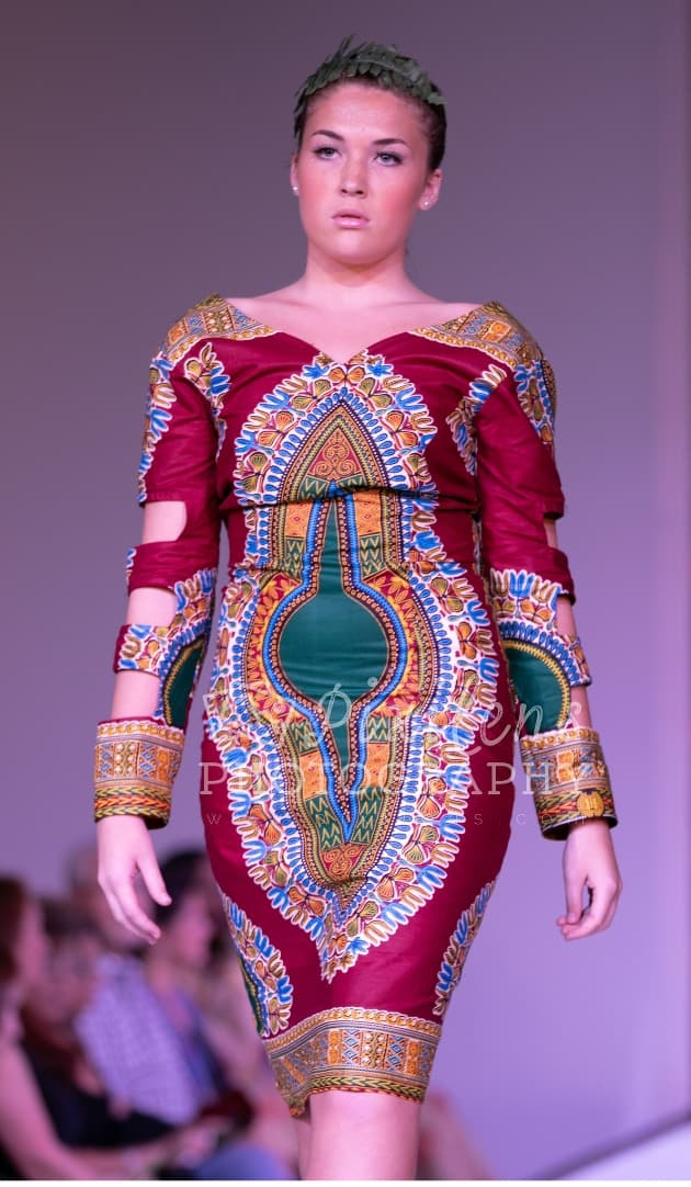 Dashiki Burgandy - African Dress
