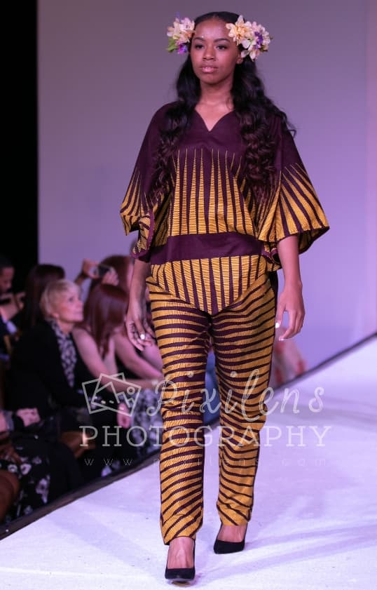 Runway Ready - African Fashion - Poncho Pant Outfit