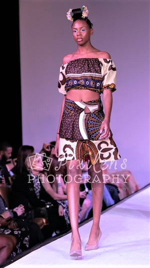 Ancient Pyramids - African Crop Top Set