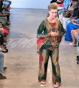 Hunter Green - Dashiki Pant Set
