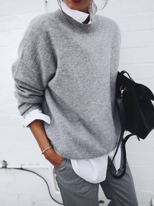 Grey Long Sleeve Casual Shirts & Tops