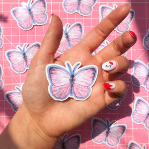 Pink Butterfly Stickers <3