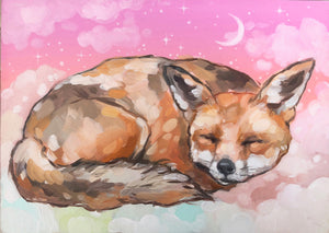 "♥︎Sleepy Fox♥︎ 8.5x11"" Art Print"