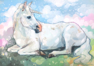 "♥︎Unicorn♥︎ 8.5x11"" Art Print"