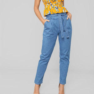 Fashion Butt Lifting Denim Jeans Casual Pants