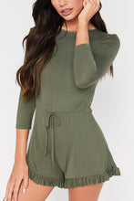 Fashion Long Sleeves Plain Rompers