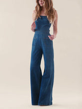 Fashion Plain Cowboy Jumpsuit