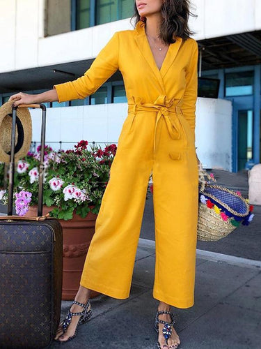 Autumn Casual Holiday Style Jumpsuit