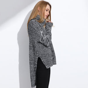 Women's Turtleneck Knitwear Oversized Sweater Tops