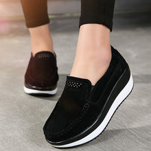Plain  Faux Leather  Casual Flat & Loafers