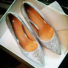 Sequined High Heel Wedding Shoes