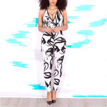Sexy Strap Printed Jumpsuit