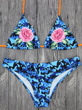 Halter Straps Sexy Floral Printed Swimwear
