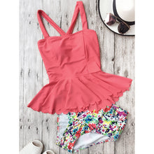 Summer Halter Lace-Up Printed Swimwear