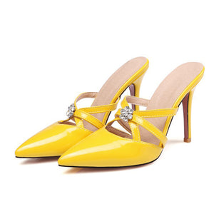 Fashion Pure Color Slim Heel Mueller Shoes
