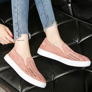Casual Pure Color Hollow Flat Shoes