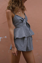Bowknot  Houndstooth Jumpsuits