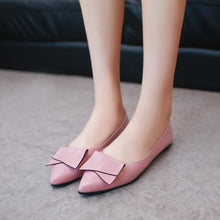Fashion Pure Color Pointed Flat Shoes