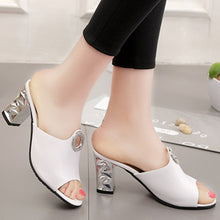 Plain  Chunky  High Heeled  Peep Toe  Date Pumps