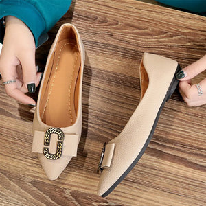 Plain  Flat  Point Toe  Casual Date Flat & Loafers