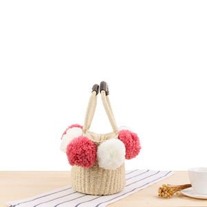Lovely Wool Ball Shoulder Bag