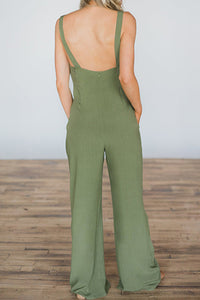 Sexy Fashion Sleeveless Plain Jumpsuit
