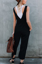 Casual Stylish Button Plain Jumpsuit
