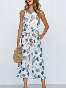 Printed Pocket Jumpsuit
