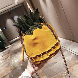 Fashion Personality Pineapple Shape Crossbody Bag Mini Bags