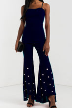 Fashion Sleeveless Pearl Jumpsuits