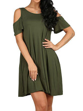 Loose Strapless Short-Sleeved Pocket Shift Dress