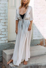 Fashion Chiffon Plain Beach Maxi Dress