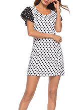 Wave Point Flying Sleeve Dress