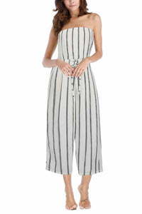 Summer Fashion Stripe Off Shoulder Jumpsuit