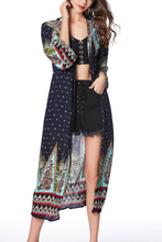 Fashion Vintage Floral Printed Beach Coat