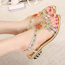 Bohemian Sandals Rhinestone Beach Shoes Women