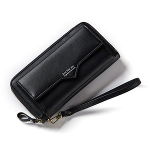 Ladies Simple Zipper Long Multi Card Of Large Capacity Portable Change Pocket Wallet