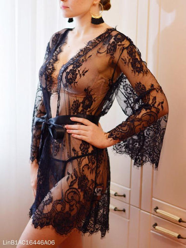 Lace Transparent Sexy Perspective Dressing Pajamas