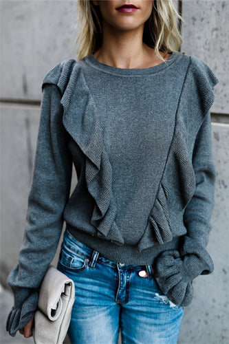 Wooden Ear Side Horn Sleeve Sweater