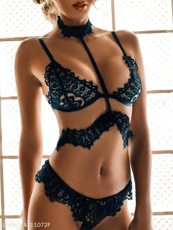 Sexy Hollow Lace Lingerie