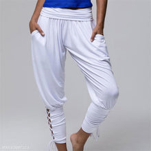 Fashion Casual Loose Yoga High Waist Lace-Up Bottom Pants