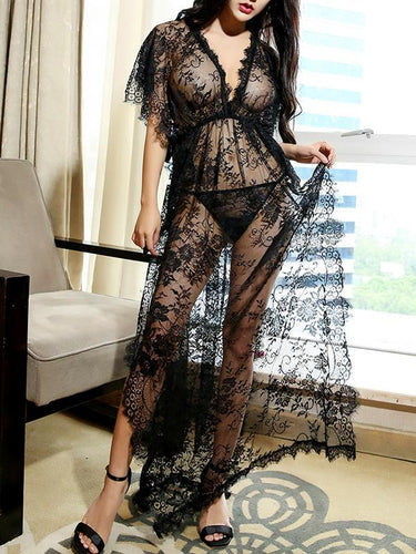 Summer Sexy Transparent Lace Nightdress