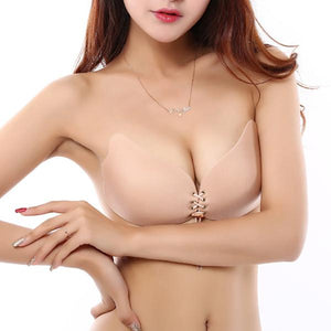 Breathable Self Adhesive Lace Up Silicone Nipple Covers Bra