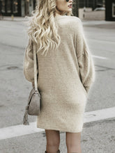 Sweater Long Dress Bat Sweater Dress