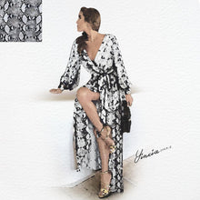 Autumn/Winter Animal Printed Fashionable Dress