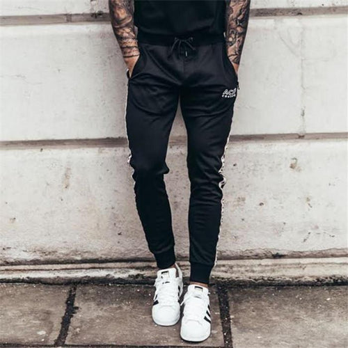 Fashion Youth Casual Sport Elastic Waist Close-Fitting Pants