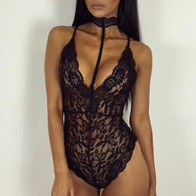 Sexy Halter Lace One Piece Lingerie