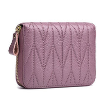 Women Genuine Leather 24 Card Slot Wallet Stitching Coin Purse